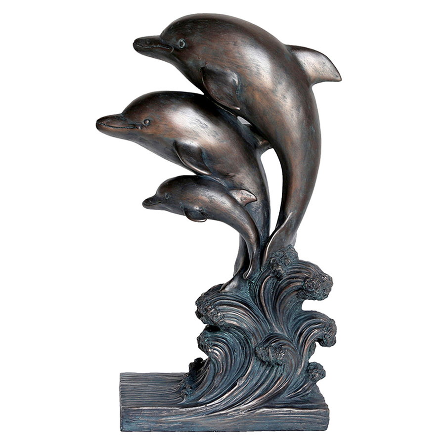 Plastic Large Dolphin Statue For Garden Decoration