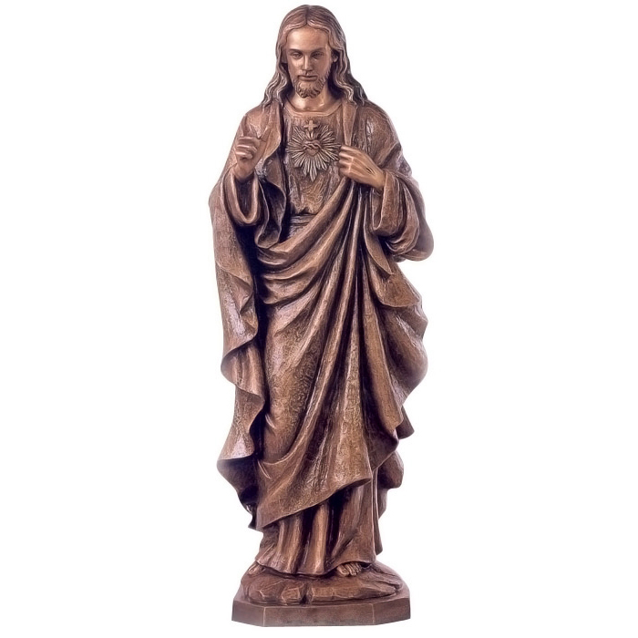 Blessing life size bronze Jesus statue