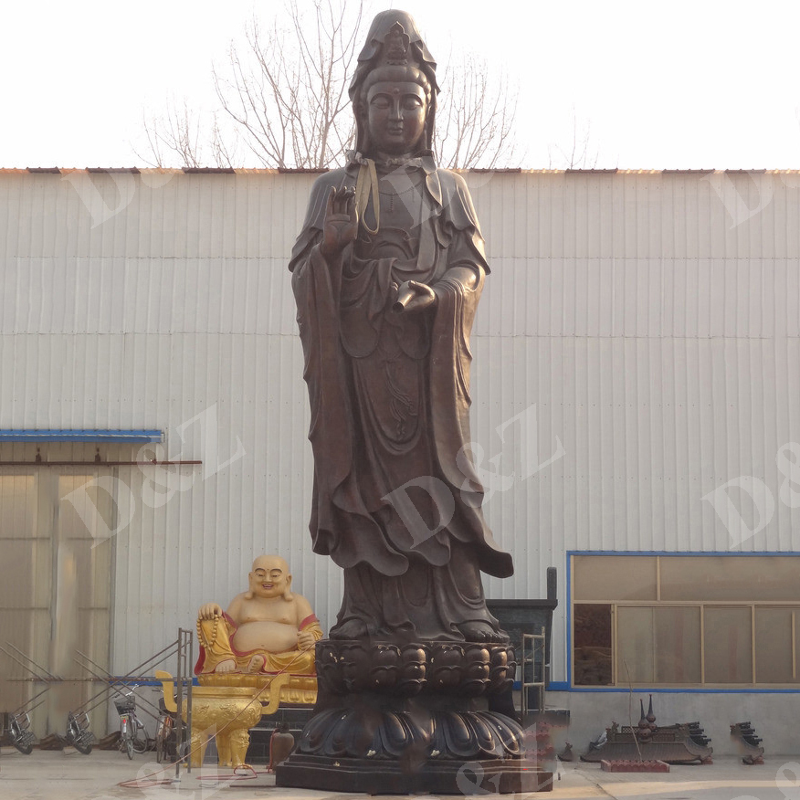 Famous bronze guagn yin statue with bottle