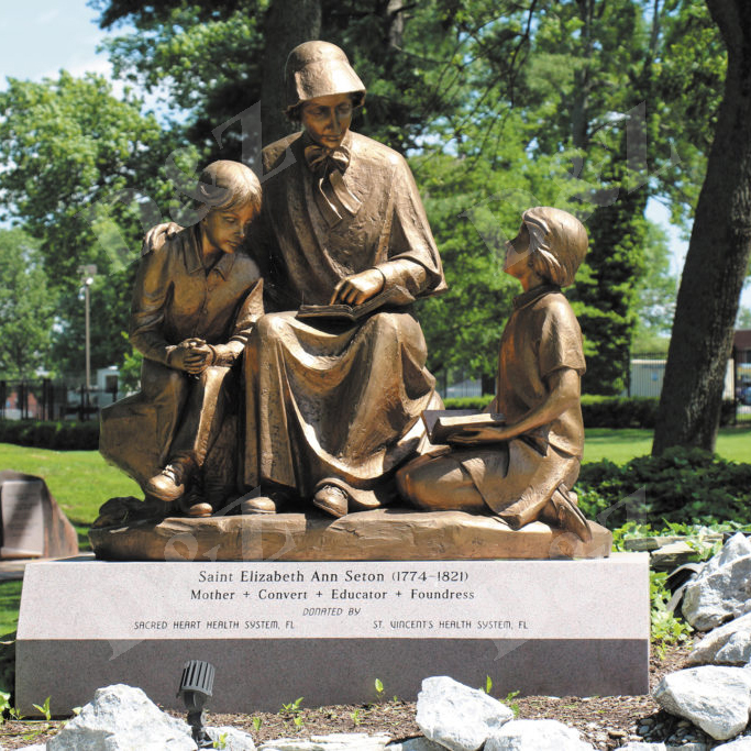 Bronze statue Mother Elizabeth Ann Seton